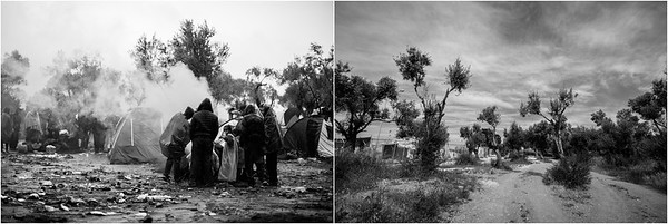 2015/2017 Refugee camp and registration desk of Moria. Lesvos Island, Greece. ------ Camp de réfugiés et bureau d'enregistrement de Moria. Ile de Lesbos, Grèce.