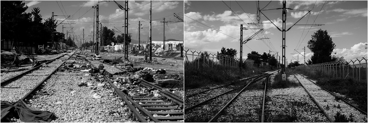 2016/2017<br /> Railways of Idomeni, former refugee camp at the border between Greece and Macedonia, Northern Greece.<br /> ------<br /> Chemin de fer d'Idomeni, ancien camp de réfugiés à la frontière entre la Grèce et la Macédoine, Nord de la Grèce.