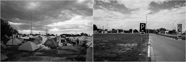 2016/2017 Refugee camp of EKO Gas station, Northern Greece. ------ Camp de réfugiés de la station d'essence EKO, Nord de la Grèce.