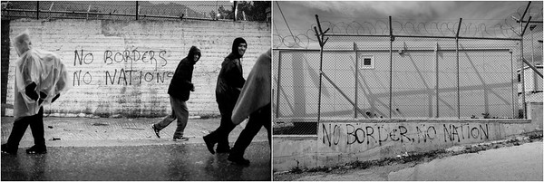 2015/2017 Refugee camp and registration desk of Moria. Lesvos Island, Greece. ------ Camp de réfugiés et bureau d'enregistrement de Moria. Ile de Lesbos, Grèce.
