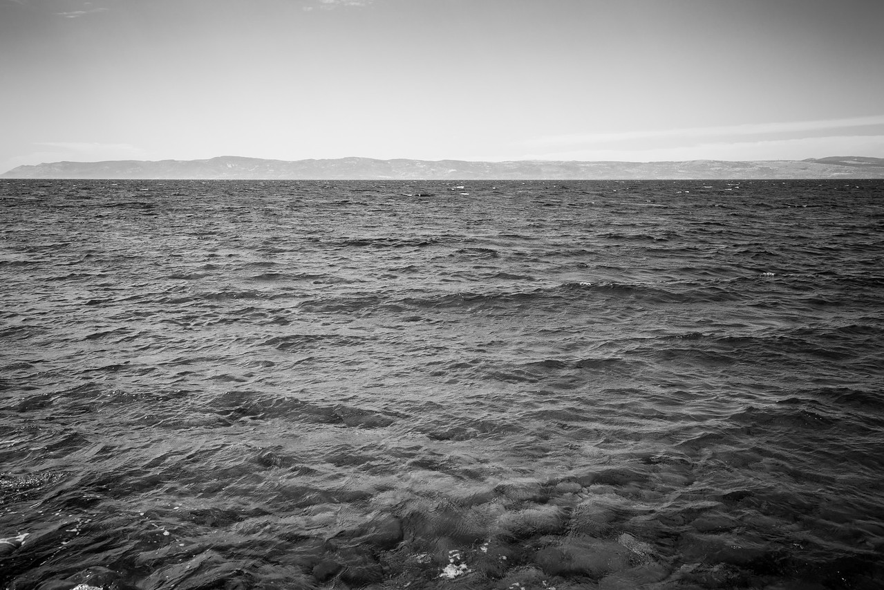 The Agean Sea has been the witness to too many tragedies as thousands of inflatable boats have crossed its water over the years which has made her sadly famous. Now,  the Turkish coast is still visible but not the incoming boats as only one or two arrive occasionally. <br /> <br /> Lesvos Island, Greece. June 2016.