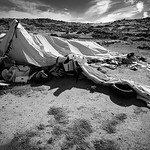 The tents used by the NGOs to help refugees landing on the island are now empty reminders of the intense activities and events that took place on these once pristine beaches.  Lesvos Island, ...