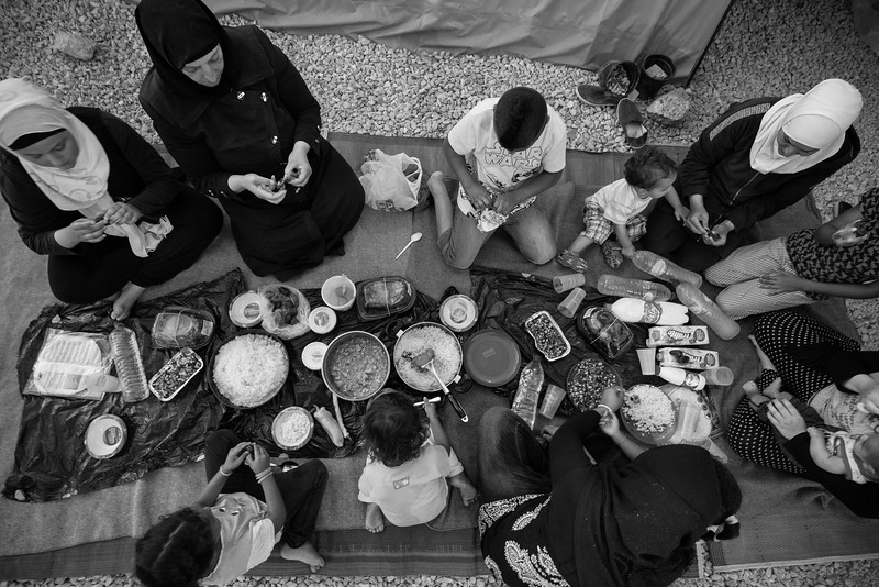 Ramadan in exile.<br /> Kara Tepe camp, Lesvos Island, Greece. June 2016
