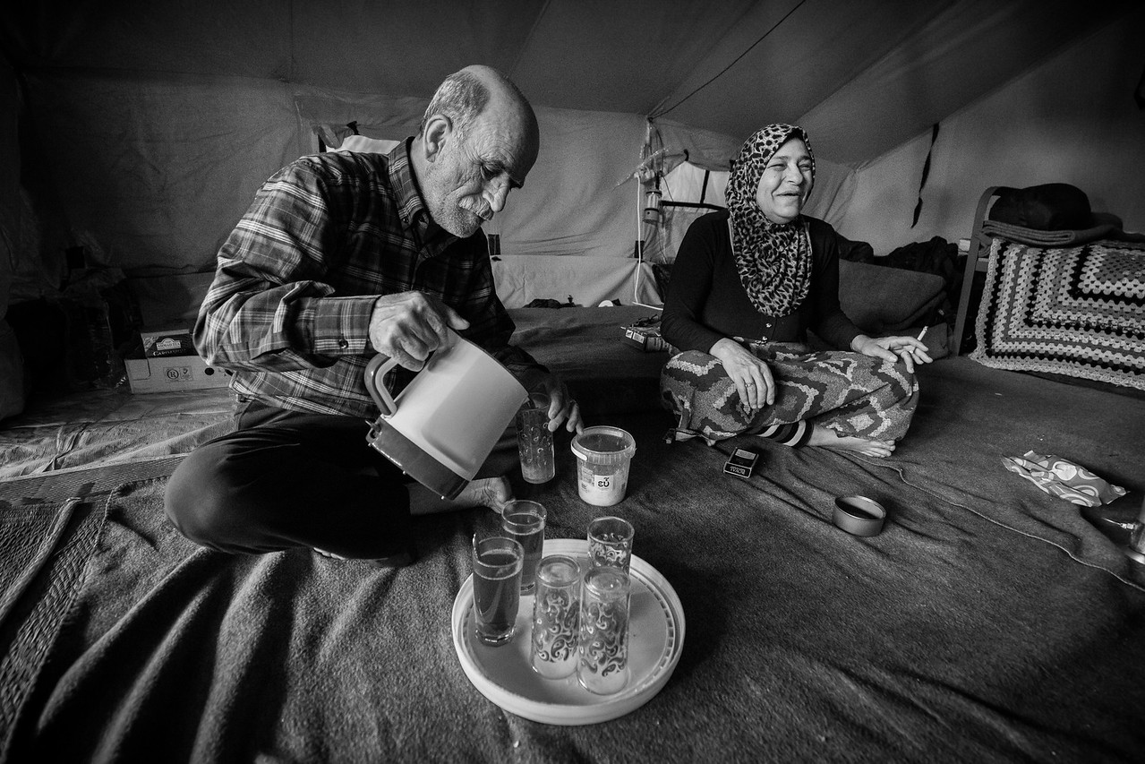 Refugees must start their lives anew once more in the new camps, settling in for an unknown duration, weeks, months or years.<br /> <br /> Oreokastro, Thessaloniki area, Greece. May 2016.