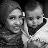 Young Syrian girl with her even younger sister in their tent.<br /> Beqaa Valley, Lebanon, 2015<br /> ----<br /> Jeune syrienne avec sa petite sœur dans leur tente.<br /> Vallée de la Bekaa, Liban, 2015