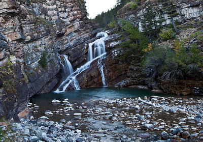 Cameron Falls on the Cameron River in Waterton National Park