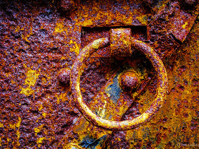 Rusty Door Hinge