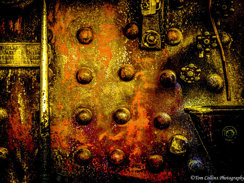 Rusty Steam Engine Boiler