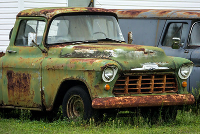 Chevorlet 1956 Old Green Rusty