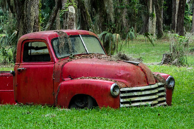 Chevorlet 1950 Rusty Red