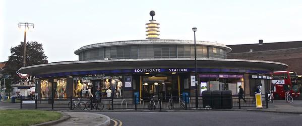 outside Southgate tube station