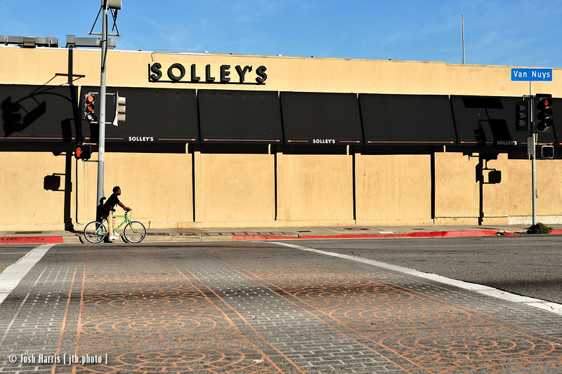 Van Nuys Boulevard at Hortense Street, Sherman Oaks, October 2011.