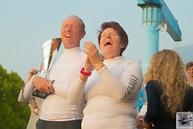 Momenti felici durante l'estrazione a premi