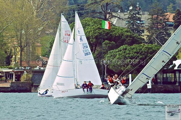CVL 1A - Como - Sfida tra Melges, FUN e J24 davanti al molo di Cernobbio sotto il Tricolore.