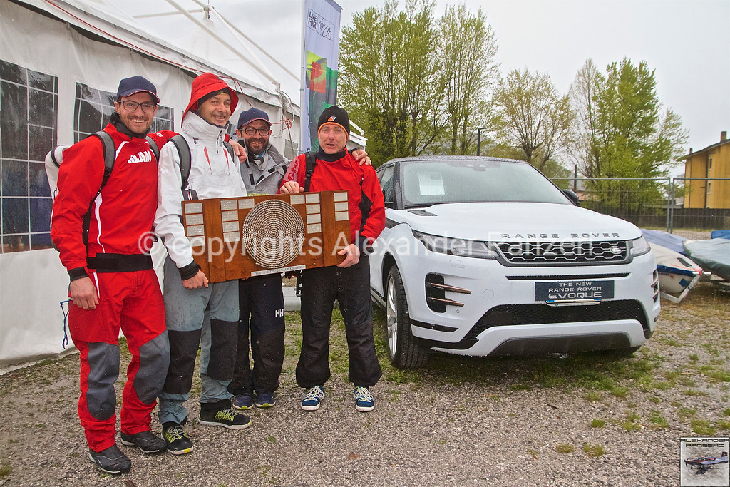 ORC: The winner: ITA-143 Splinter (Stefano Nonnis) with the trophy in the hands in front to the new Evoque. copyright © photo Alexander Panzeri