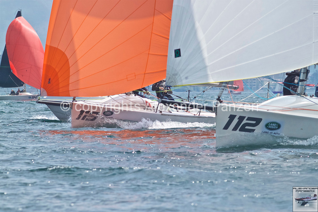 H22: ITA-119 Adrenalina and ITA-112 KIKKIO downwind surfing battle. copyright © photo Alexander Panzeri