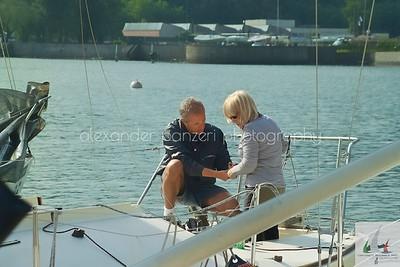 Skipper J-Falchetto e GreenLemond Teorema discutono del set up - J24ITA2014