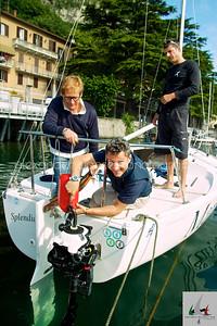 Team di Splendida MARIVA si prepara ad uscire alla regata di prova  - J24ITA2014