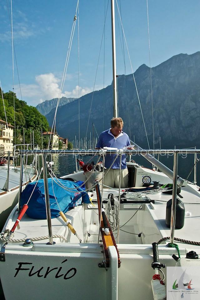 Furio Skipper (USA) si prepara per la pratica - J24ITA2014