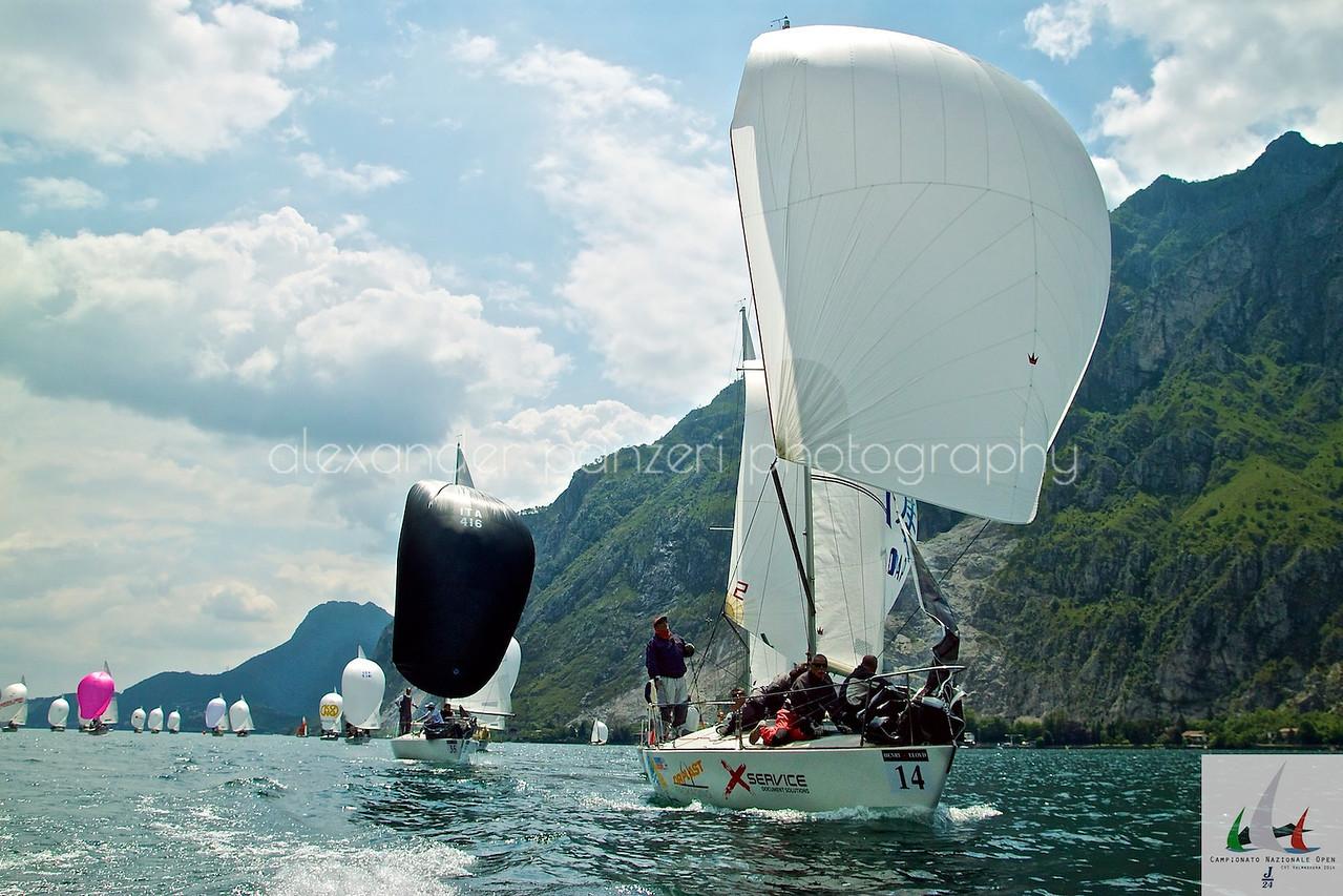La flotta invade le acque lecchesi - J24ITA2014
