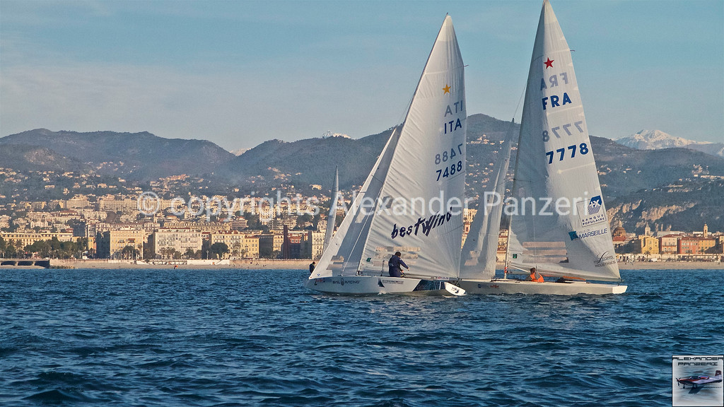 Benamati and Lacan are fighting on the layline copyright © photo Alexander Panzeri
