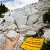 """Day 164<br /> Marble, CO<br /> """"Active dumping area"""" or """"Ouch!"""""""