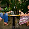"""Day 170 (1 of 2)<br /> Embassy Suites, Denver<br /> """"Drinks with a new friend"""" or """"On the set of the new talk show"""" <br /> <br /> For some reason, it looks like we're on a cheesy set for a new talk show. LOL!"""