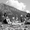 """Day 136<br /> Slate River<br /> """"Picnic with Luke, Liam, Catherine and Doug."""""""