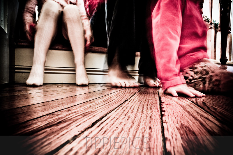 Day 313<br /> Home<br /> <br /> Sitting at the top of the stairs with the girls. Just a lazy, boring day. Sometimes they're good to have! Especially after all we've had going on lately!