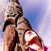 Day 43<br /> Totem Pole Park<br /> <br /> After taking several other photos throughout town, I took this at the last minute for giggles and grins. Although my face is blown out, I really like the way this turned out. I just didn't like the other photos as much! <br /> <br /> This park is so cute... I'm sure you'll see more of it sometime!