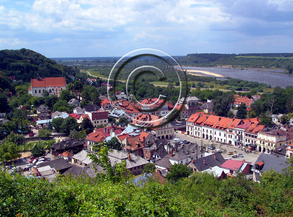 """Climbing to the top of the """"Hill of the Three Crosses"""" enables a beautiful view of the town, the Vistula River basin and Kazimierz the Great's castle.          <b>Click on photo to enlarge</b>"""