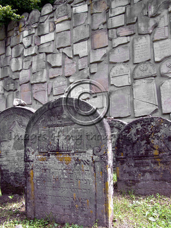 In 1985 some 600 tombstones were gathered by the municipality and used for erecting a monument in memory of the Jewish heritage in the region.        <b>Click on photo to enlarge</b>