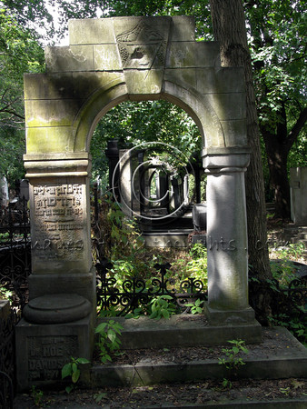 The Jewish Cemetery in Warsaw is one of the last authentic prewar Jewish sites – a mirror into the past. The cemetery survived Nazi demolition perhaps due to the fact that Jewish burial was necessary during the war, at an accelerated pace.                           <b>Click on photo to enlarge</b>