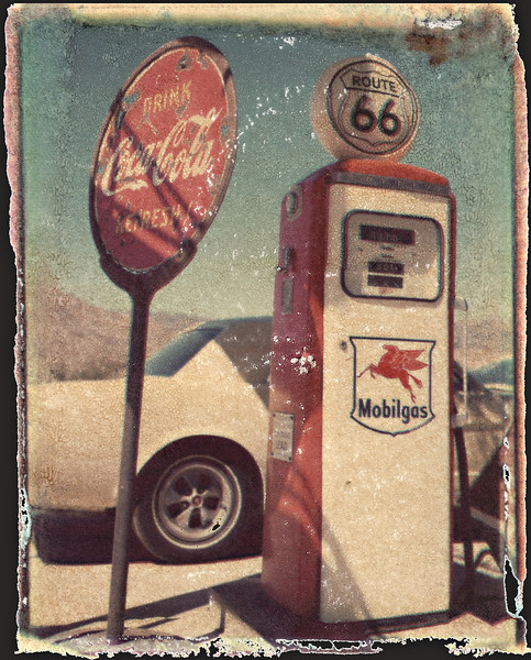Polaroid Transfer<br /> Route 66, Arizona<br /> © Laura Razzano