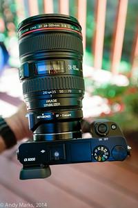 Sony alpha 6k w Metabones w Canon 24-105mm f/4L