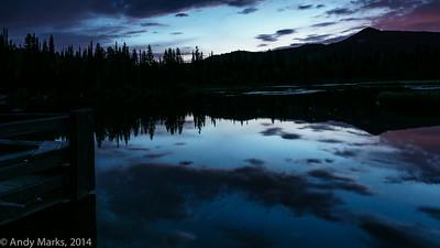 Silver Lake fish wake