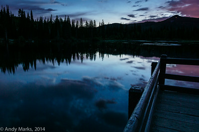 Silver Lake 5am - too late and cloudy for the Milky Way