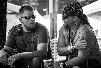 Even the roadies at SoulFest are born-again. Sweetest roadies you'll ever meet, drinking nothing more than ice tea and lemonade during sets.