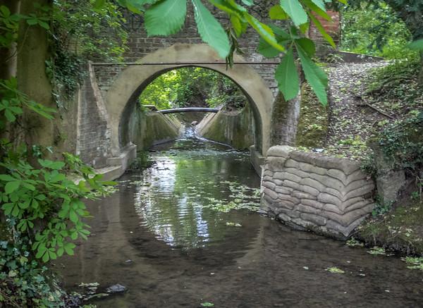 Bridge over Pymmes Brook - Hadley Wood