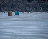 Ice-Fishing Shacks On the St. Croix River