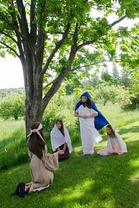 Jesus talks to the women