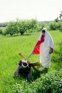 Jesus falls