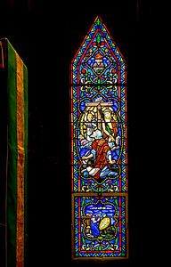 Pulpit Stained Glass,  St James Episcopal