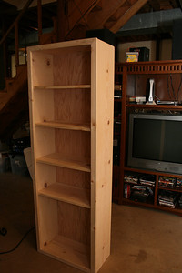 Unfinished bookcase from Mike.