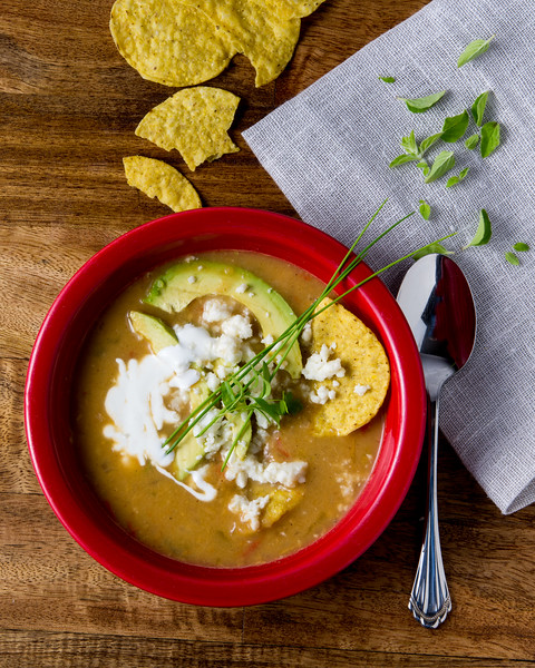 Tortilla Soup with Queso Fresco
