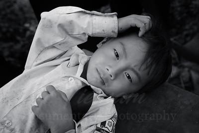 A Hmong boy
