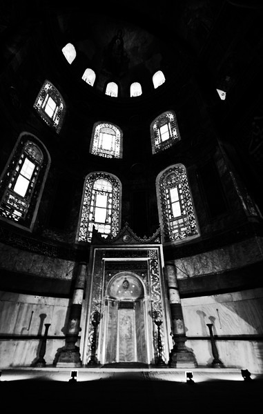 Hagia Sofya ~ The Church of the Holy Wisdom, known as Hagia Sophia (Άγια Σοφία) in Greek, Sancta Sophia in Latin, and Ayasofya or Aya Sofya in Turkish, is a former Byzantine church and former Ottoman mosque in Istanbul. Now a museum, Hagia Sophia is universally acknowledged as one of the great buildings of the world.