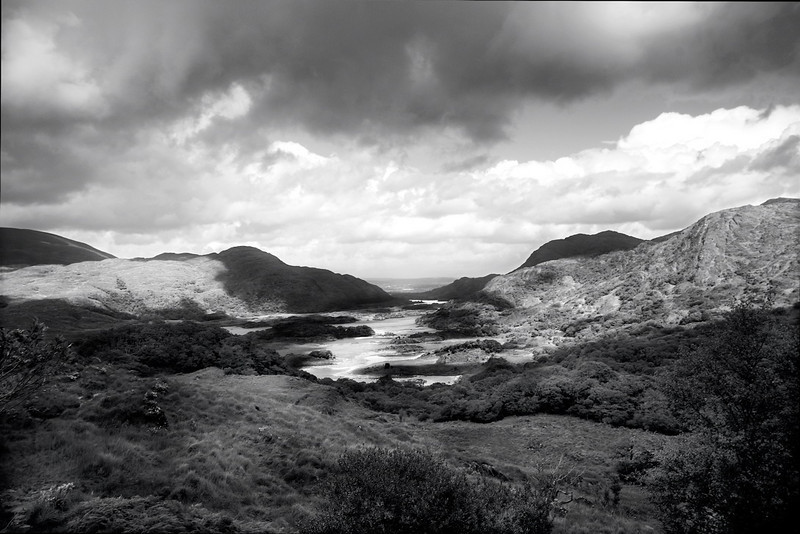 Ladies View (monochrome)<br /> <br /> Killarney National Park, County Kerry.