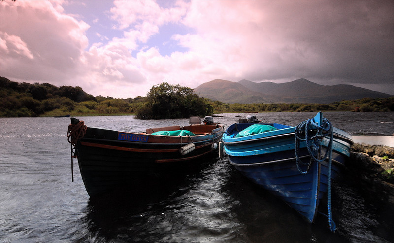 The Banks of Ross Castle (colour)<br /> <br /> Killarney National Park, County Kerry.