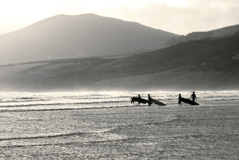 Surfers.<br /> <br /> Inch Beach, County Kerry
